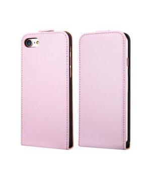 Luxusné púzdro zo syntetickej kože pre iPhone 7 Plus v ružovej farbe