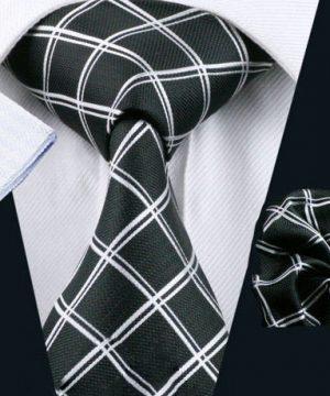 Luxusný kravatový set Bary - kravata + manžety + vreckovka , č.2