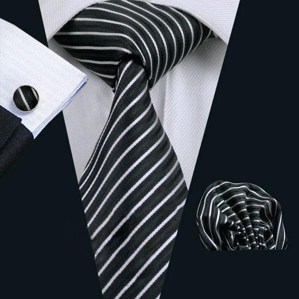 Luxusný kravatový set Bary - kravata + manžety + vreckovka , č.3