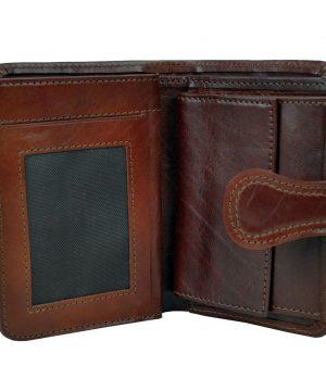 59d98df5fe Luxusná moderná kožená peňaženka č.8462 v hnedej farbe · Luxusné a ...