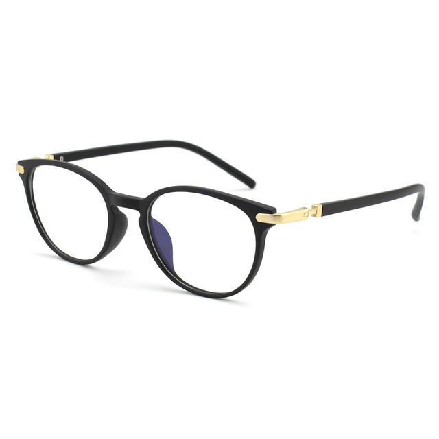 78a87f657 Moderné flexibilné okuliare na prácu s počítačom s čierno-zlatým rámom