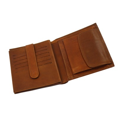 Luxusná kožená peňaženka č.8333/1 v hnedej farbe