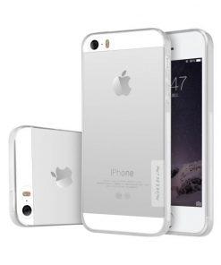 NILLKIN 0.6mm silikónové púzdro pre iPhone 5/5S/SE, Transparent