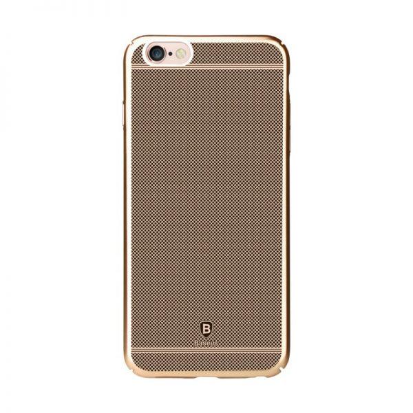 Plastový laserom gravírovaný obal BASEUS pre iPhone 6 / 6S v zlatej farbe