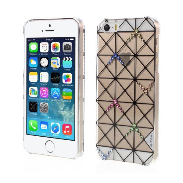 Plastový obal s kryštálmi KINGXBAR pre iPhone 5/5S/SE, Transparent