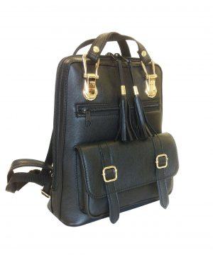 Praktický-módny-ruksak-z-prírodnej-kože-v-čiernej-farbe