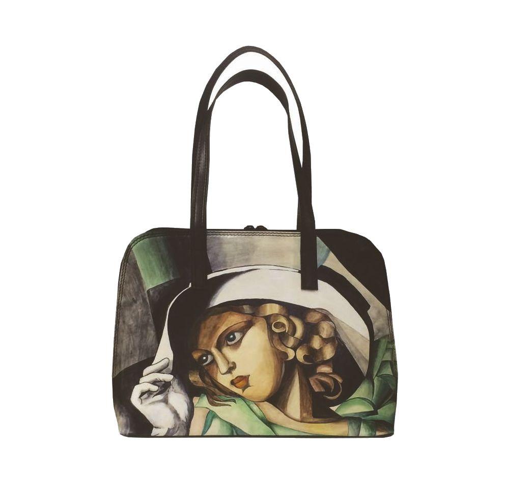 1c1c240a2c92 Ručne maľovaná kabelka 8573 inšpirovaná motívom Tamara de Lempicka ...