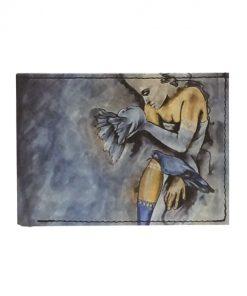 Ručne-maľovaná-peňaženka-s-motívom-Dievča-s-holubmi