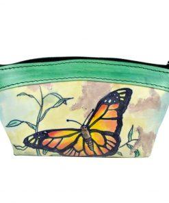 Ručne maľované púzdro – kozmetická taštička. vyrobená z pravej prírodnej kože. Existuje len jeden kus. Každý jeden kus ručne maľovaných výrobkov je umelecké dielo. (3)