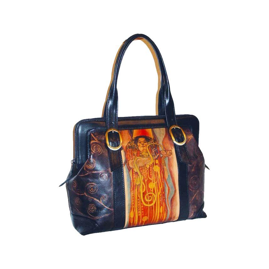 e49524d2f8 Ručne maľovaná kabelka 8221 inšpirovaná motívom Gustav Klimt ...