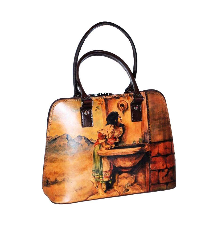 6e22de505c1d Ručne maľovaná kabelka 8573 inšpirovaná motívom Leon Bonnat ...
