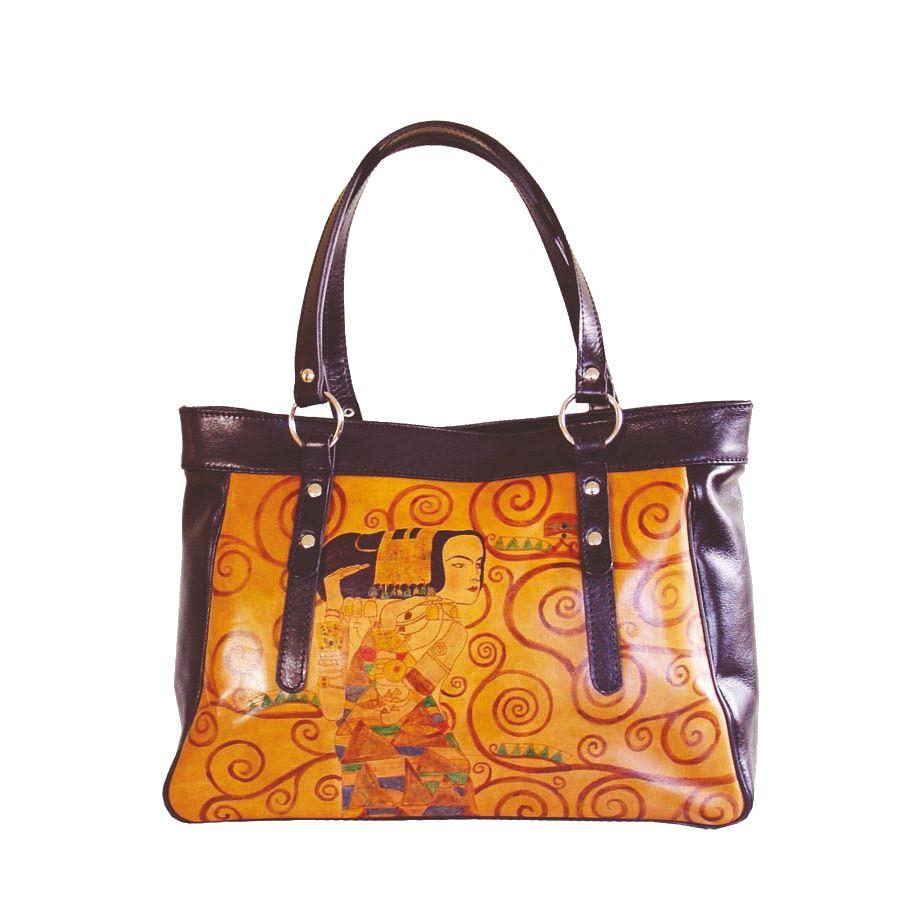c49c8d442e11 Ručne maľovaná kabelka 8602 inšpirovaná motívom Gustav Klimt ...