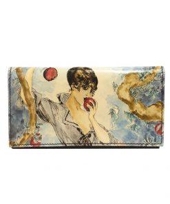 Ručne-maľovaná-peňaženka-7757-s-motívom-žena-s-jablkom