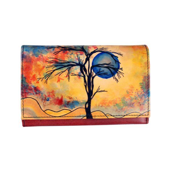 Ručne maľovaná peňaženka s motívom Zima (6) - kópia