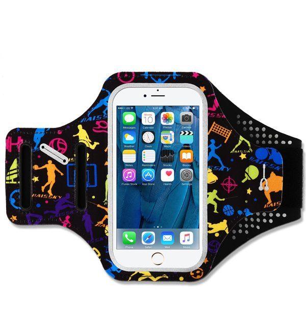 Športové púzdro Haissky na behanie pre iPhone 6, 7, 8 s farebnými športovcami