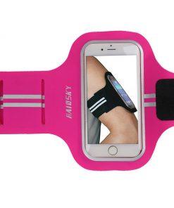 Športové púzdro Haissky na behanie pre iPhone 6, 7, 8 v ružovej farbe
