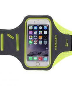 Športové púzdro Haissky na behanie pre iPhone 6, 6S, 7, 8 v zeleno-sivej farbe