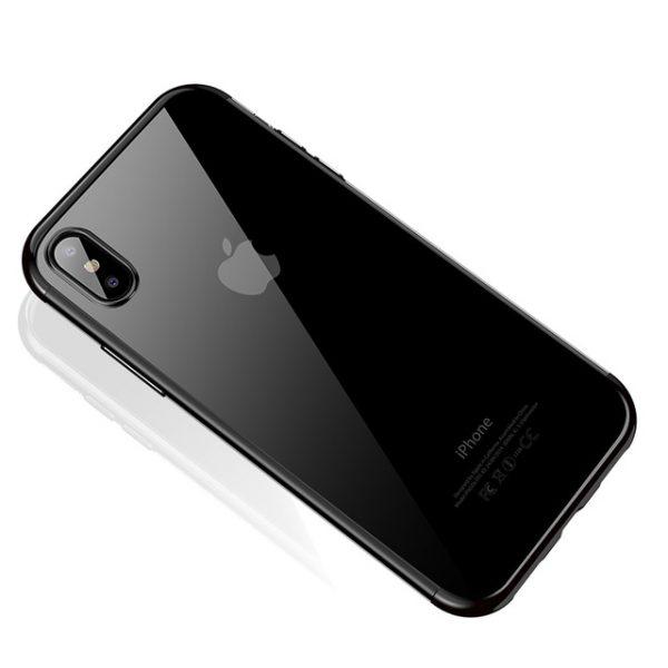 Silikónový kryt pre iPhone X s čiernym okrajom