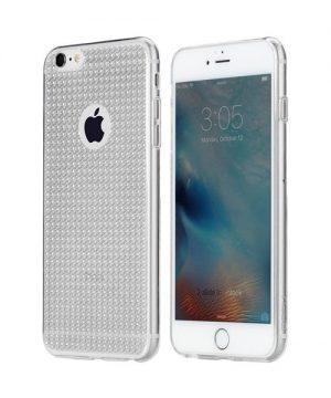 Silikónový obal ROCK pre iPhone 6 Plus / 6S Plus, strieborná farba