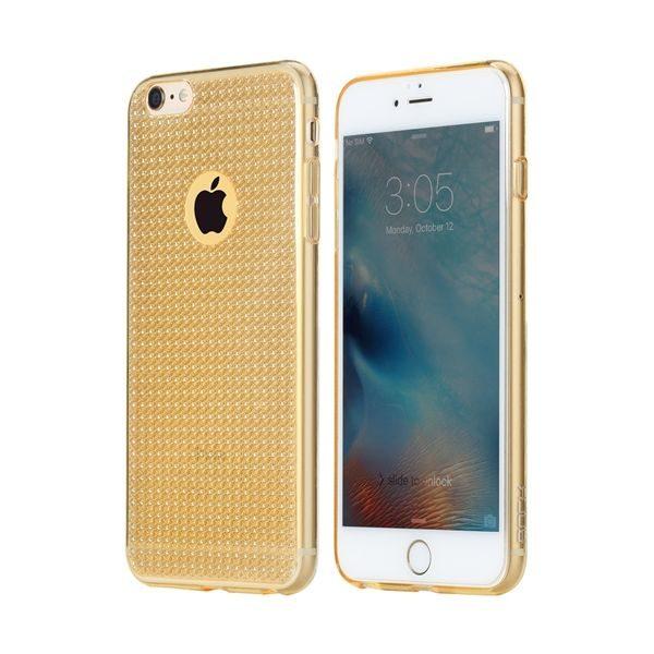 Silikónový obal ROCK pre iPhone 6 Plus / 6S Plus, zlatá farba