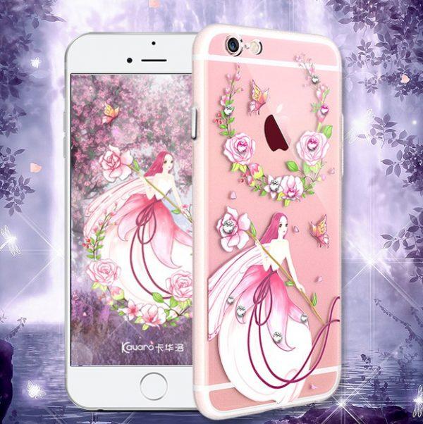 Silikónový obal s kryštálmi KAVARO pre iPhone 6 Plus / 6S Plus