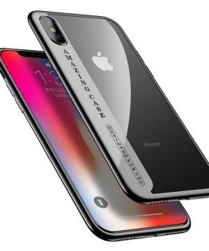 Silikónový transparentný kryt pre iPhone X s čiernymi okrajmi