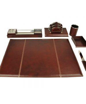 Stolový kancelársky set v tmavo hnedej farbe - Kompletný set