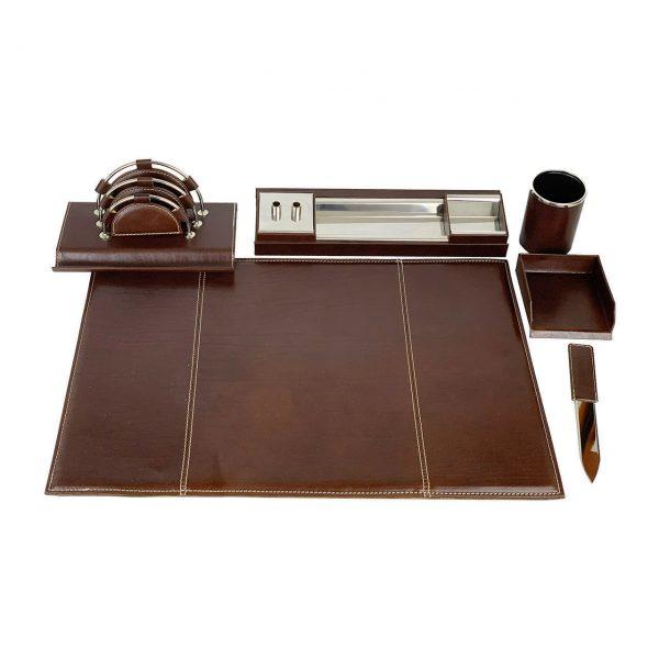 Stolový kancelársky set v tmavo hnedej farbe - Kompletný set,JPG