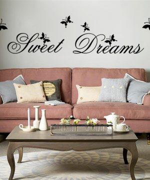 Sweet Dream kvalitná nálepka na stenu z PVC, 27 x 120 cmSweet Dream kvalitná nálepka na stenu z PVC, 27 x 120 cm