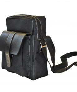 Textilná športová etua crossbody v čiernej farbe