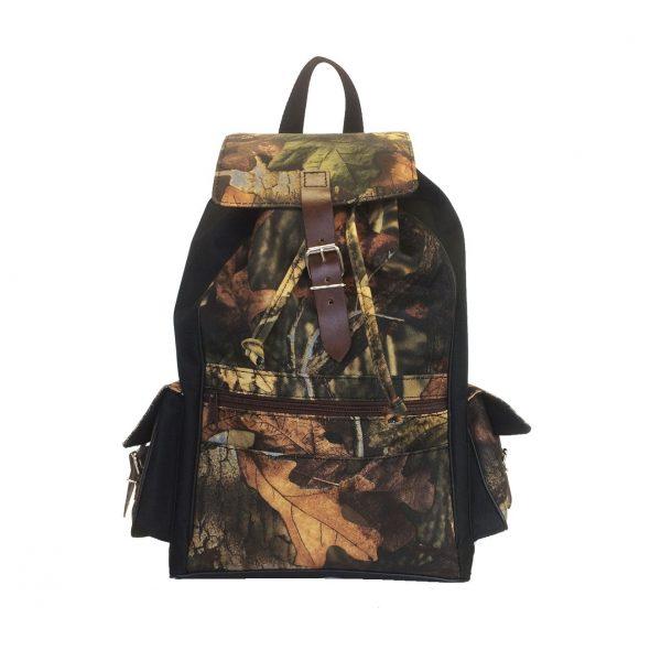 Textilný športový ruksak 8673 s popruhom v čiernej farbe