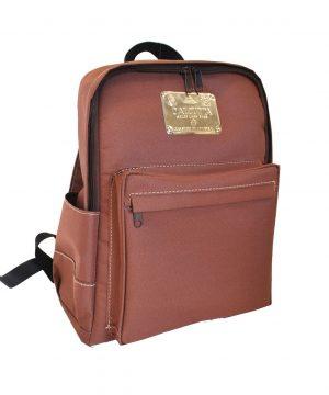 Textilný pánsky ruksak 8670k v hnedej farbe