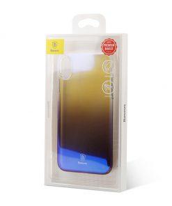 Unikátny tvrdý kryt pre iPhone X, transparentný čierny
