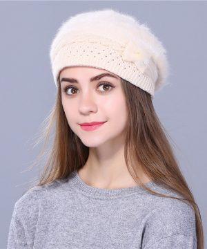 Dámska elegantná baretka s mašličkou v rôznych farbách