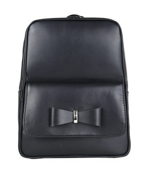 Módny kožený ruksak z pravej hovädzej kože č.8666 v čiernej farbe