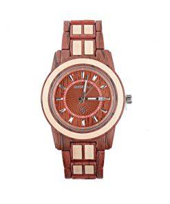 Drevené jedinečné hodinky Bewel v tmavo-hnedom prevedení