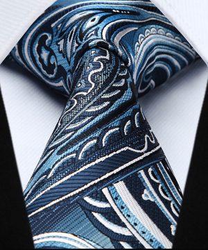 Elegantná pánska sada - kravata + vreckovka - č.2