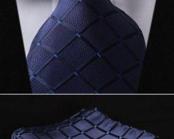 Elegantná sada - hodvábna kravata s vreckovkou - vzor10
