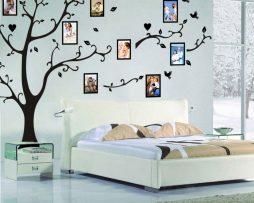 Kvalitná nálepka na stenu z PVC - veľký STROM na fotografie - 290x200 cm
