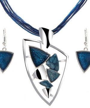 Jedinečný šperkový set v tvare trojuholníka v rôznych farbách
