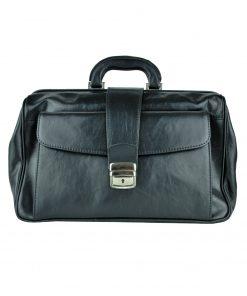 Kožený pracovný doktorský kufrík č.8022 v čiernej farbe (4)