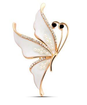 Luxusná brošňa v tvare motýľa v rôznych farebných prevedeniach