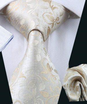 Luxusná kravatová sada Bary - kravata + manžety + vreckovka , č.10