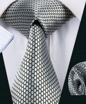 Luxusná kravatová sada Bary - kravata + manžety + vreckovka , č.15