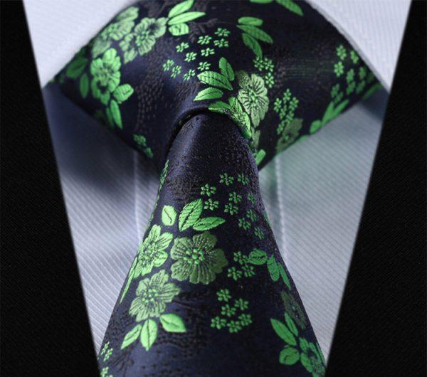 Luxusná pánska sada - kravata a vreckovka - vzor12