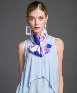 Luxusná ženská hodvábna šatka - 106 x 106 cm