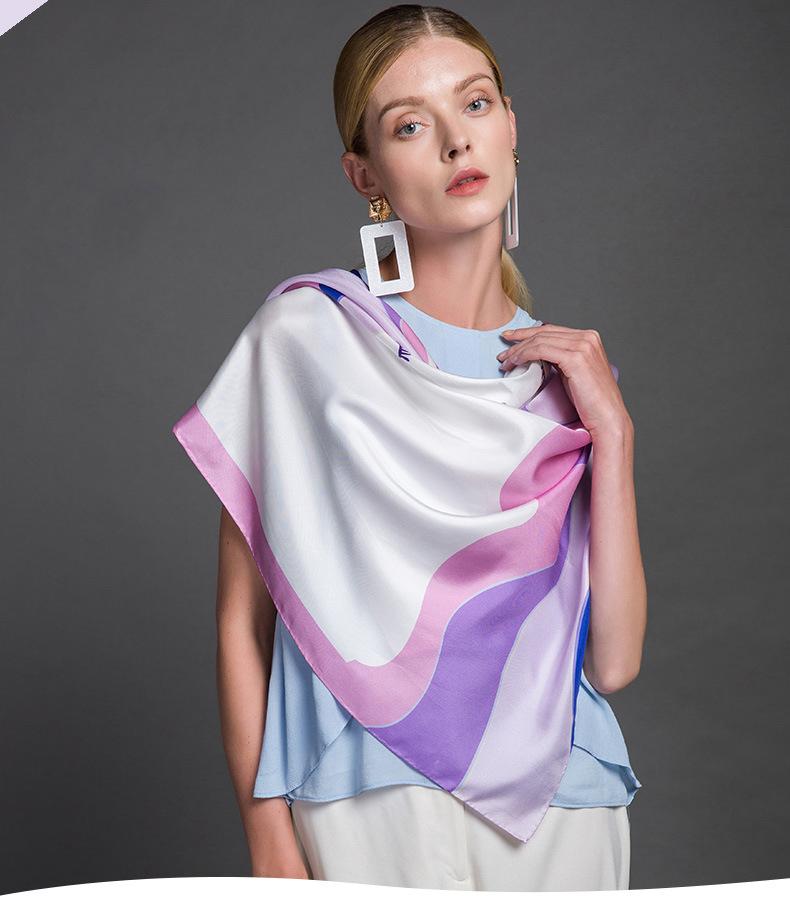 Luxusná ženská hodvábna šatka – 106 x 106 cm  186d2285816