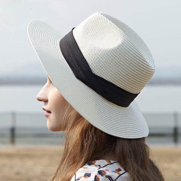Luxusný dámsky slamený klobúk v rôznych farbách