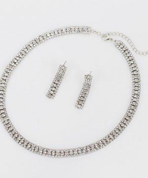 Luxusný kryštálový šperkový set - naušnice + náhrdelník