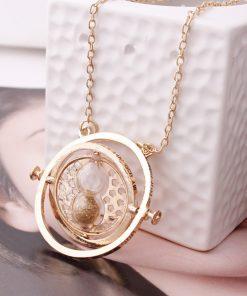Luxusný zlatý náhrdelník s príveskom času, Obracadlo